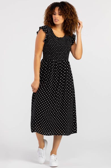 Polka Dot Dress w/ Pockets