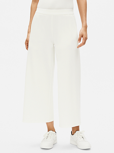 Flex Tencel Ponte Wide Cropped Pant