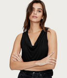 Eve Cowl Neck Jersey Tank