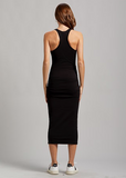 Racerback Ruched Midi Dress
