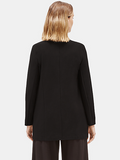 System Lightweight Washable Crepe Long Jacket by Eileen Fisher