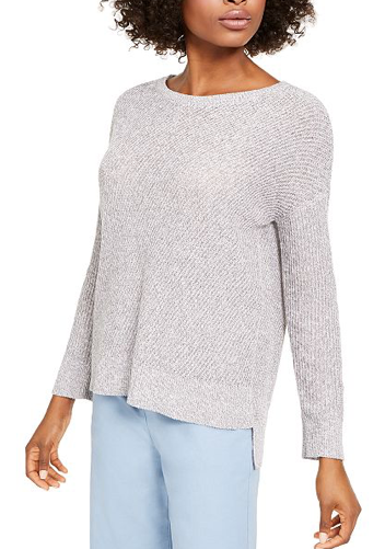Ballet Neck Boxy Sweater