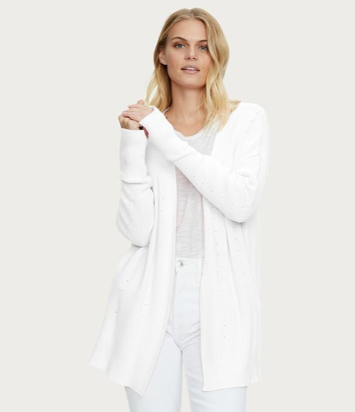 Cotton Long Sleeve Open Cardigan