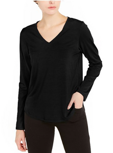 Tencel Jersey V Neck Top