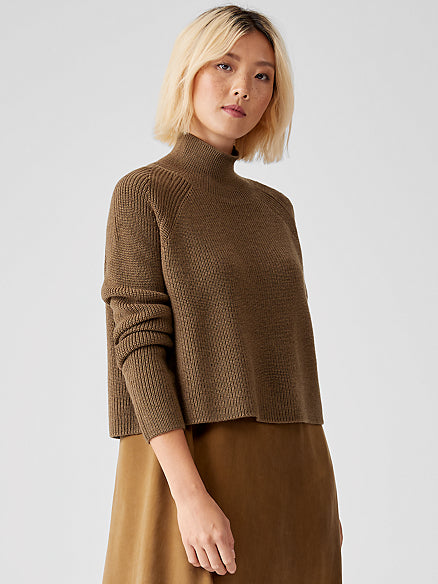 Regenerative Merino Turtleneck Top