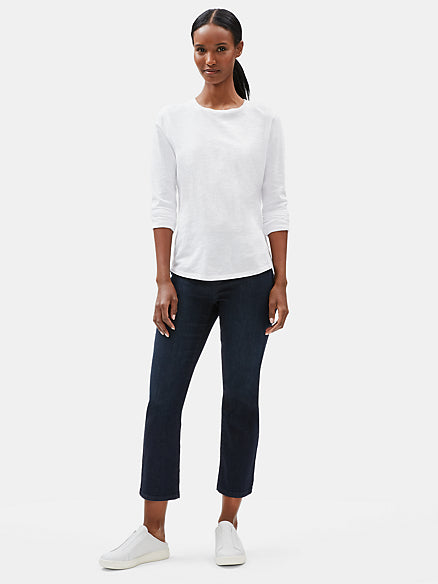 Organic Cotton Stretch Denim Slim Cropped Pant