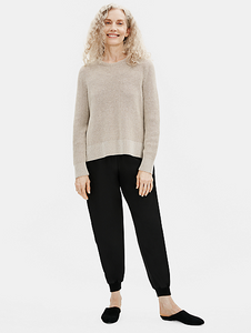 Smooth Silk Slouchy Ankle Pant