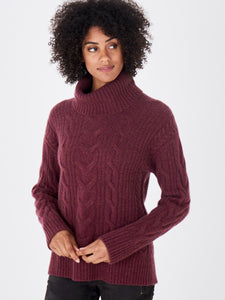Cashmere Cable Turtleneck