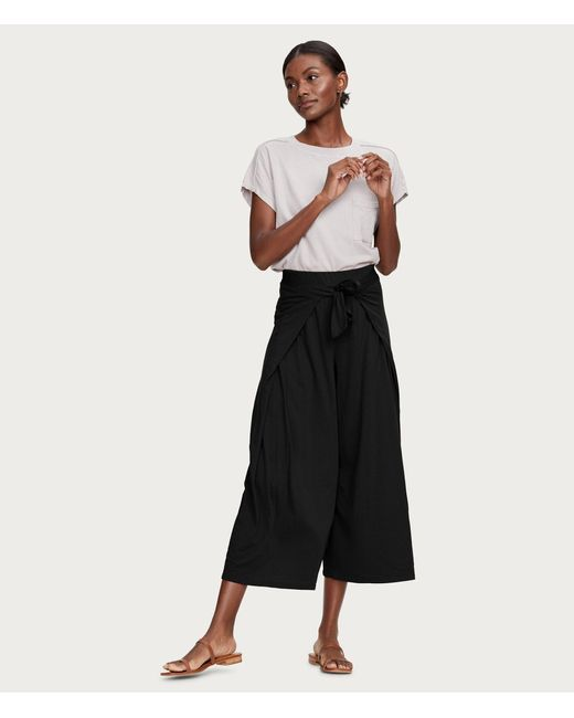 Clarissa Cropped Culottes with Tie