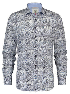 Eclectic Squares Long Sleeve Shirt