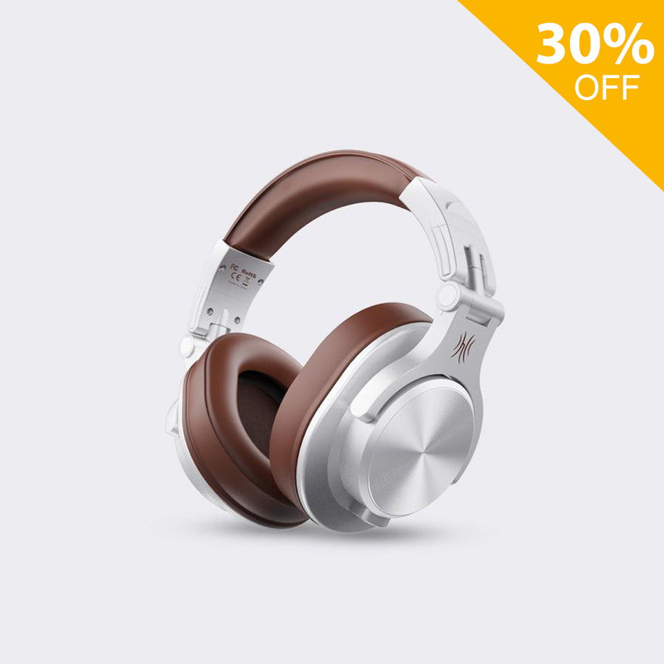 A70 Auricurales Bluetooth Over Ear (Plata marrón)