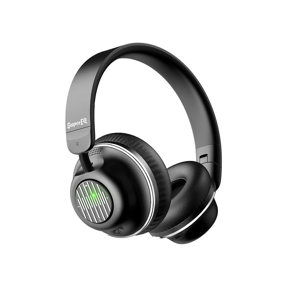 SuperEQ S2 Casque Bluetooth ANC On Ear (Noir)