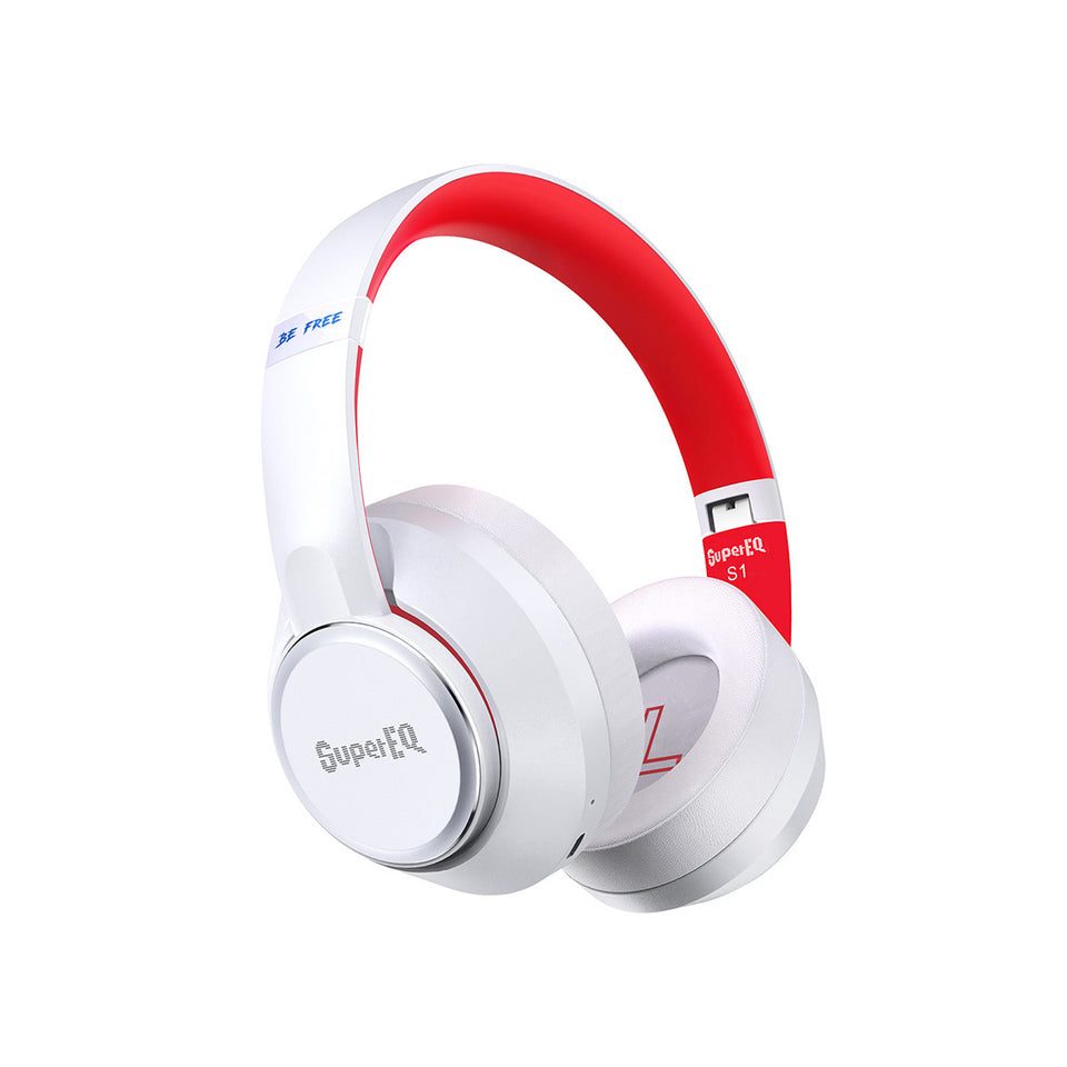 SuperEQ S1 Casque Bluetooth 5.0 Hybrid ANC Over Ear(Blanc)