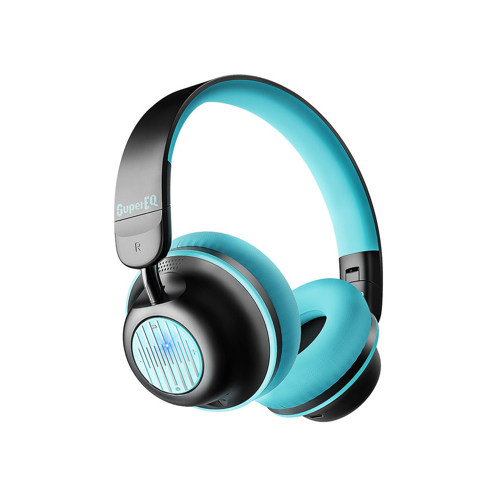 SuperEQ S2 Casque Bluetooth ANC On Ear (NoirVert)
