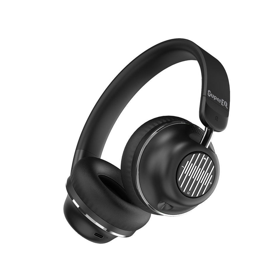 SuperEQ S2 Cuffie Wireless Bluetooth On Ear (Negro)