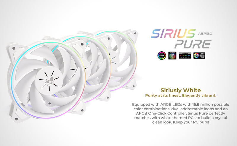 Earth Day Special - 216 White with Six (6) Sirius Pure White Fan