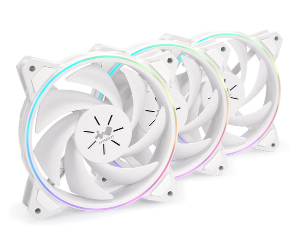 Sirius Pure White ARGB ASP120 Fan Triple Pack (120mm)