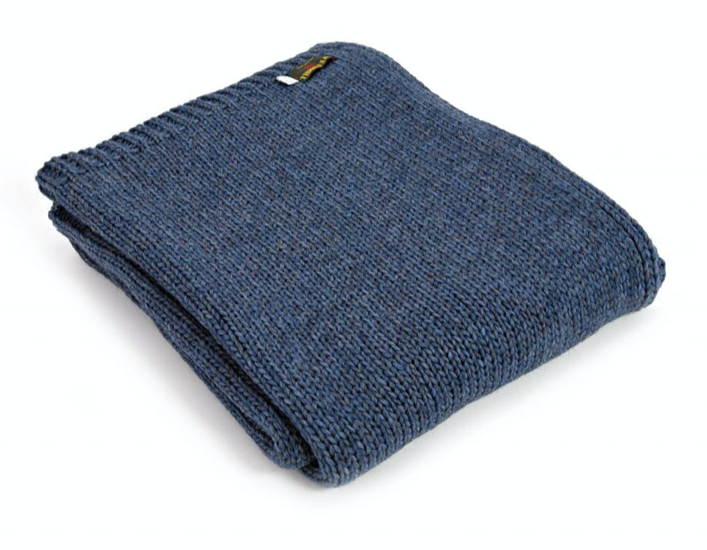 Alpaca Plaid - Blue Slate