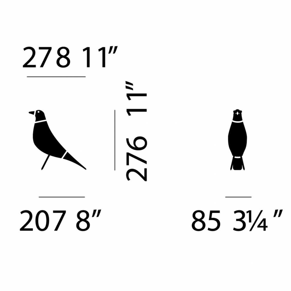Eames House Bird - Zwart
