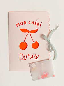 Custom made Greeting Card MON CHÉRI
