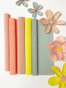 Crepe Paper Happy Flower KIT + tutorial