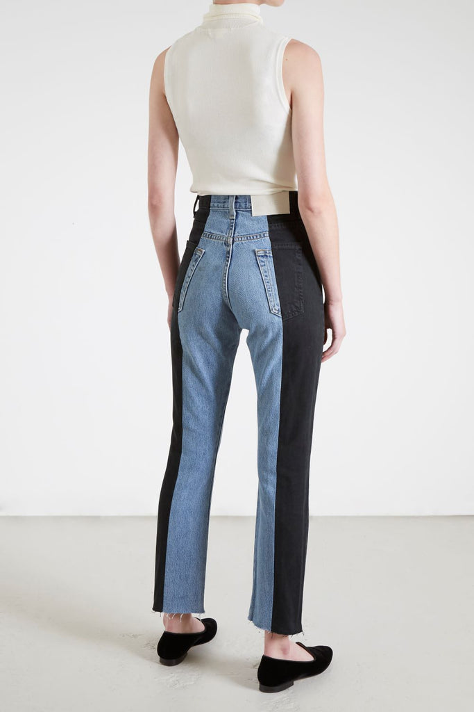THE TWIN SRAIGHT LEG CONTRAST JEAN