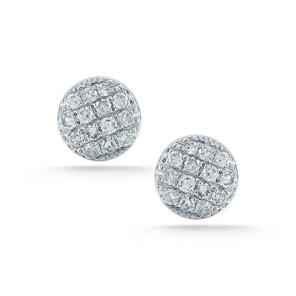 14K WHITE GOLD LAUREN JOY MINI DIAMOND DISC STUDS