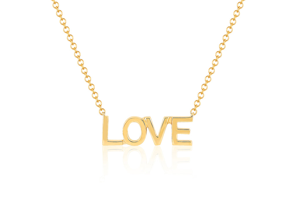 14K YG MINI LOVE NECKLACE
