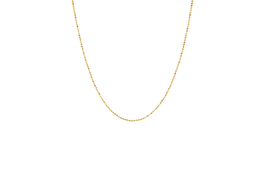 14K YG FACETED CHAIN