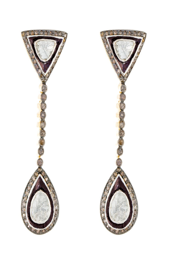 TRIKON EARRINGS - DIAMOND EARRINGS