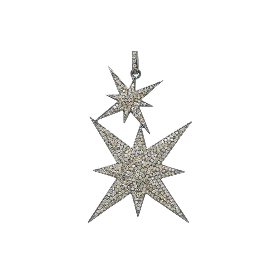 DIAMOND TWO STAR PENDANT