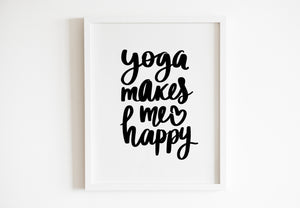 Yoga Makes Me Happy
