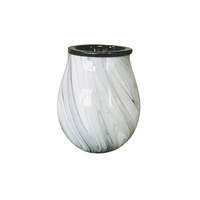 Fill your room with Fragrance with this beautiful Manhattan Wax Melt Warmer.  Hand blown glass electric warmer with a ceramic dish  To be used with wax melts, essential oils or fragrance oils. Wild Violet Studio Holistic Home Fragrance Wagga Wagga NSW Australia