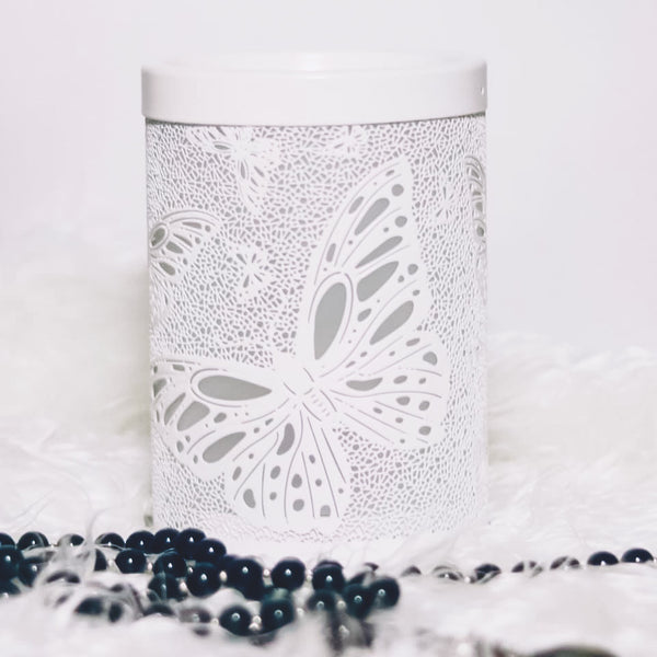 Butterfly White Metal Melt Warmer