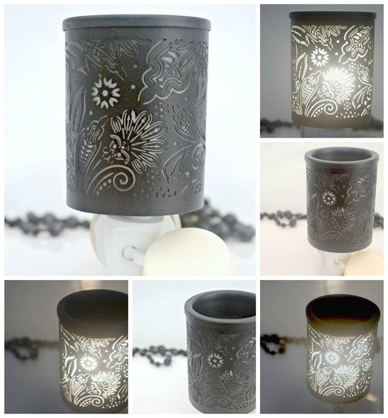 Black Floral Wall Plug-In Fragrance/ Warmer