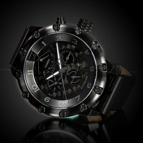Maxtory Extreme, Automatic, Japan Movement, DLC Coating, Water-Resistant 100m, Blackout Watch, Carbon Fiber dial