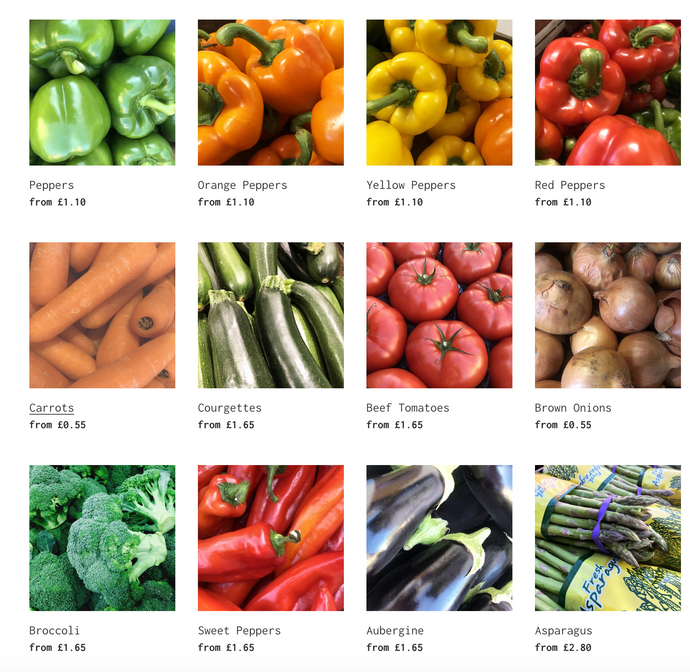Buy your fruit and veg online!