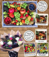 Delicious and fresh fruit and vegetable boxes