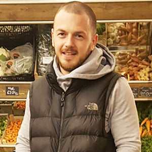 This is Ricky our greengrocer