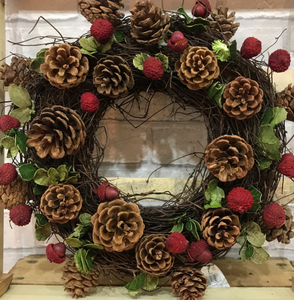 14inch - Fresh Fir Decorated Christmas Wreath