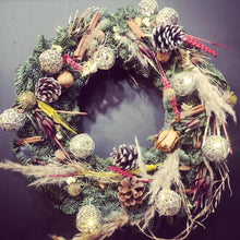 Load image into Gallery viewer, 14inch - Fresh Fir Decorated Christmas Wreath