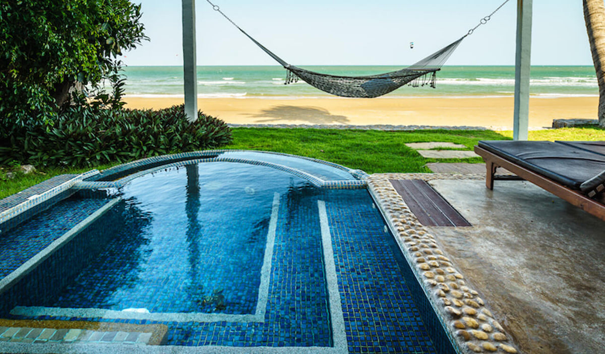 Aleenta Hua Hin Resort & Spa, Pranburi - Ocean View Residence private pool, hammock, and beach access