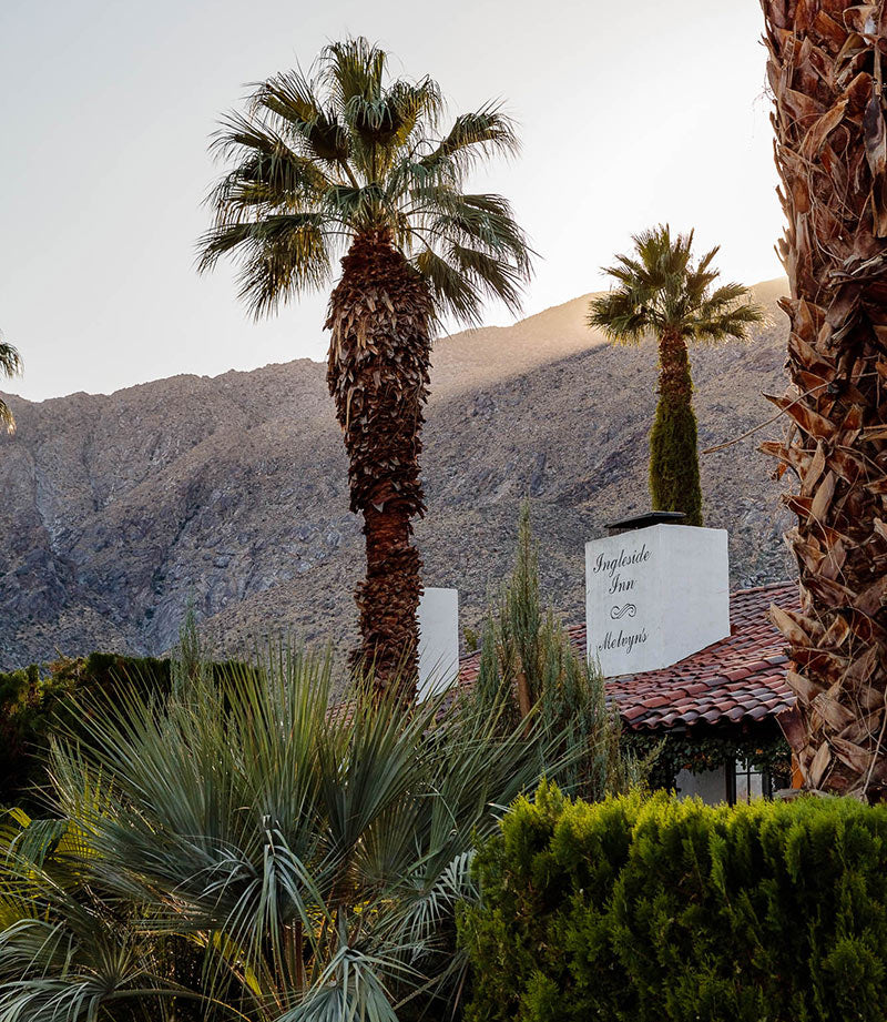 Ingleside Inn, Palm Springs - hotel in a palm tree setting with mountains in the background