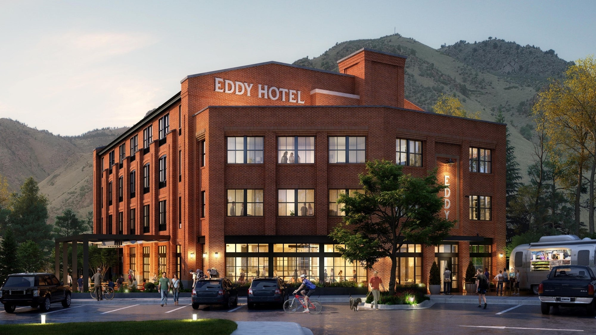 The Eddy Hotel Exterior Rendering