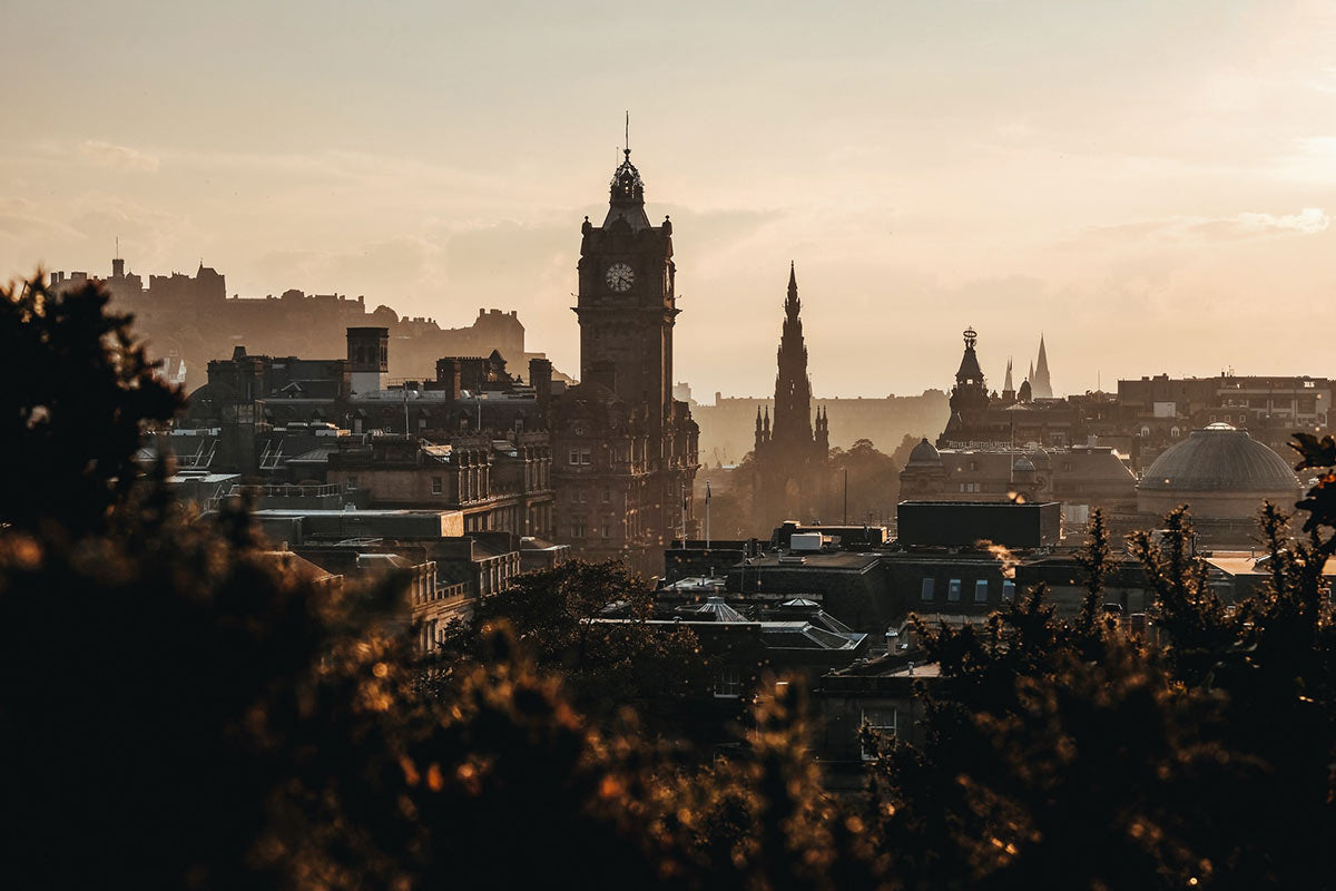 The Glasshouse, Edinburgh - view of Edinburgh skyline at sunset