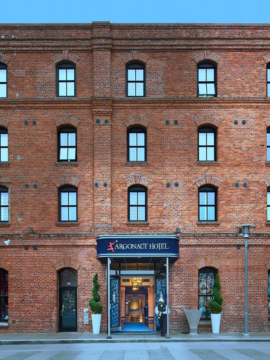 Argonaut Hotel, San Francisco - exterior of brick hotel in a former cannery warehouse