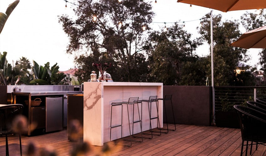 Twelve Senses Retreat, Encinitas - hotel rooftop lounge with bar and barstools
