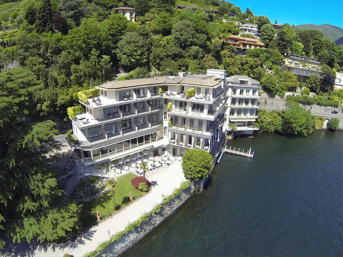Hotel Villa Flori, Lake Como - lakeside Italian villa hotel with private balconies at the foot of forested hills and a dock