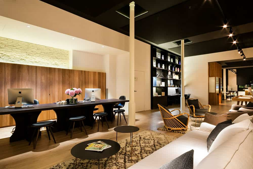 Yurbban Passage Hotel, Barcelona - hotel reception desk and lobby with couches, armchairs, and coffee tables