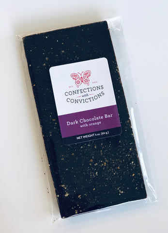 Confections with Convictions Milk Chocolate Bar w/ Orange